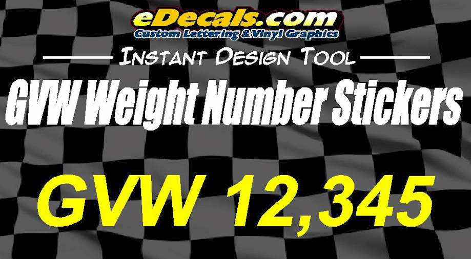Custom9022 – GVW Weight Number Sticker Decal