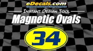 Racing Number Racing Magnetic Ovals