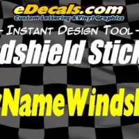Custom Windshield Window Decal Stickers
