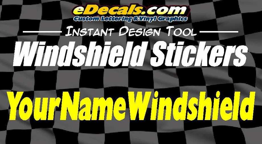 Custom Windshield Window Decal Stickers