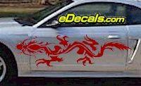 DRG107 Dragon Tribal Cartoon Decal