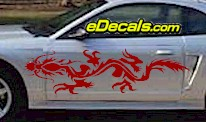 DRG107 Dragon Tribal Cartoon Decal