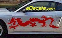 DRG109 Dragon Tribal Cartoon Decal