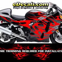 FLM806 Flame Decal Kit Suzuki Yamaha Kawasaki Metric Bike