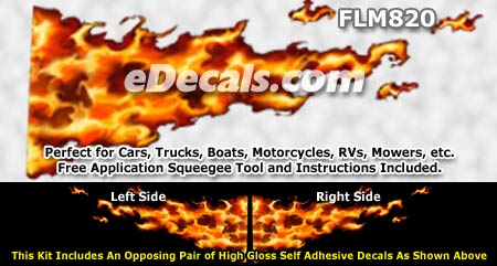 FLM820 Realistic Flame Graphic Decal
