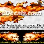 FLM821 Realistic Flame Graphic Decal