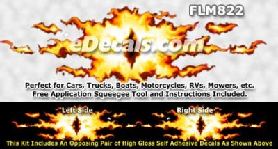 FLM822 Realistic Flame Graphic Decal