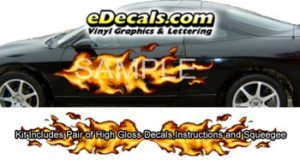 FLM823 Realistic Flame Graphic Decal
