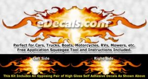 FLM824 Realistic Flame Graphic Decal
