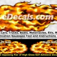 FLM829 Realistic Flame Graphic Decal