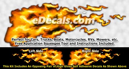 FLM830 Realistic Flame Graphic Decal
