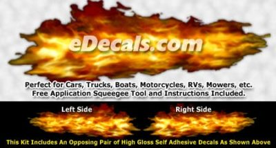 FLM832 Realistic Flame Graphic Decal