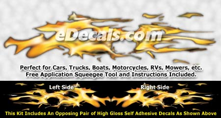 FLM834 Realistic Flame Graphic Decal