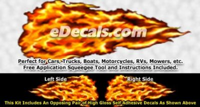FLM836 Realistic Flame Graphic Decal