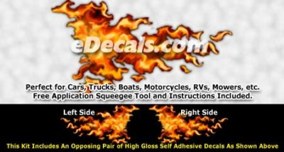 FLM837 Realistic Flame Graphic Decal