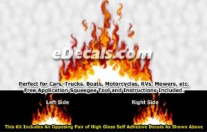 FLM839 Realistic Flame Graphic Decal