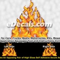 FLM840 Realistic Flame Graphic Decal