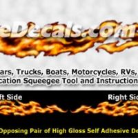 FLM841 Realistic Flame Graphic Decal