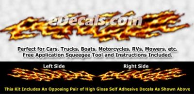 FLM842 Realistic Flame Graphic Decal