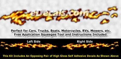 FLM843 Realistic Flame Graphic Decal