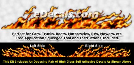 FLM844 Realistic Flame Graphic Decal