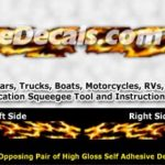 FLM845 Realistic Flame Graphic Decal