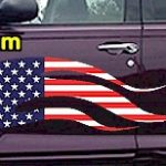 FLM902 USA Striped Flame Decal