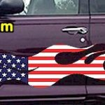 FLM903 USA Striped Flame Decal