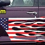 FLM912 USA Striped Flame Decal