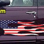 FLM915 USA Striped Flame Decal