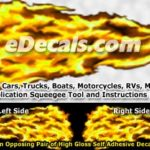 FLM955 Yellow Realistic Flame Graphic Decal
