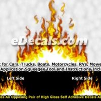 FLM970 Yellow Realistic Flame Graphic Decal