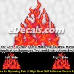 FLM976 Red Realistic Flame Graphic Decal