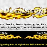 FLM980 Yellow Realistic Flame Graphic Decal