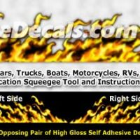 FLM995 Yellow Realistic Flame Graphic Decal