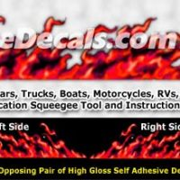 FLM996 Red Realistic Flame Graphic Decal