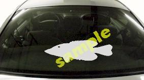 FSH101 Black Crappie Fish Decal