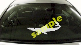 FSH102 Blue Shark Fish Decal