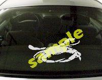 FSH111 Crab Fish Decal