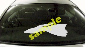 FSH112 Fantail Fish Decal