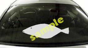 FSH113 Founder Fluke Fish Decal