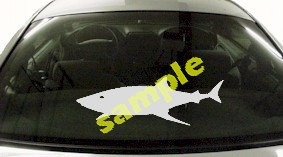 FSH116 Great White Shark Fish Decal
