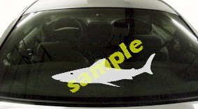 FSH117 Great White Shark Fish Decal