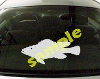 FSH122 Largemouth Bass Fish Decal