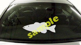 FSH152 Smallmouth Bass Fish Decal