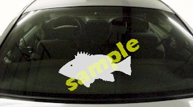 FSH153 Snapper Fish Decal