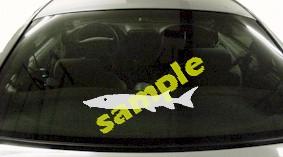 FSH158 Sturgeon Fish Decal