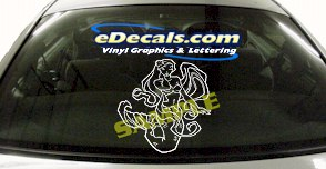 FTS102 Mermaid Fantasy Cartoon Decal