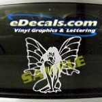FTS109 Butterfly Woman Fantasy Cartoon Decal