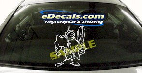 FTS117 Space Soldier Fantasy Cartoon Decal